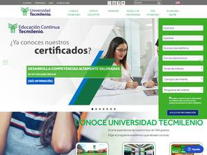 Universidad TecMilenio's Website Screenshot