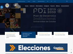 Universidad de Caldas's Website Screenshot