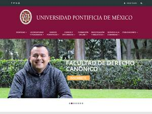Pontifical University of Mexico Screenshot