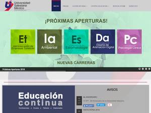 Universidad Salesiana's Website Screenshot