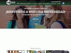 Universidad Tecnológica Americana's Website Screenshot
