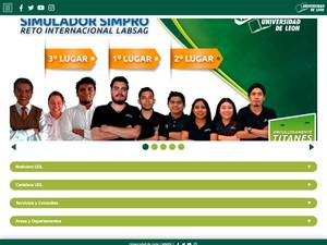 Universidad de León, Mexico's Website Screenshot