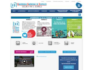 Universidad Americana de Acapulco's Website Screenshot