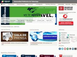 Universidad Politécnica de Tulancingo's Website Screenshot