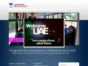 Universidad Albert Einstein, Mexico's Website Screenshot