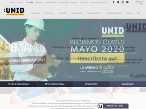 Universidad Interamericana para el Desarrollo's Website Screenshot