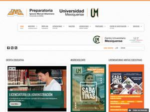 Universidad Mexiquense's Website Screenshot