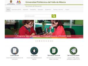 Universidad Politécnica del Valle de México Screenshot