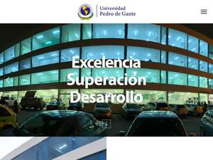 Universidad Pedro de Gante's Website Screenshot