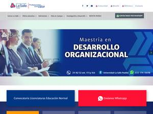 Universidad La Salle Benavente A.C.'s Website Screenshot