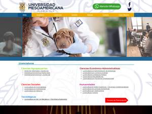 Universidad Mesoamericana Puebla Screenshot