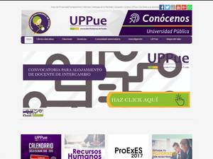 Universidad Politécnica de Puebla's Website Screenshot