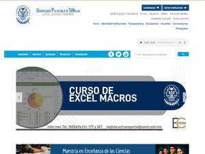 Polytechnic University of Sinaloa Screenshot