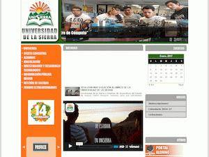 Universidad de la Sierra's Website Screenshot