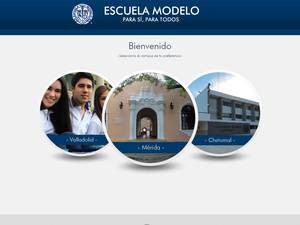 Universidad Modelo's Website Screenshot