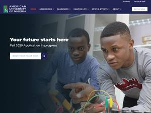 American University of Nigeria's Website Screenshot