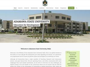 Adamawa State University's Website Screenshot