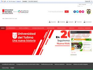 Universidad del Tolima Screenshot