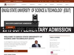 Enugu State University of Science and Technology Screenshot