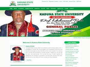 Kaduna State University's Website Screenshot