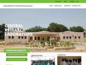 Kano University of Science and Technology's Website Screenshot