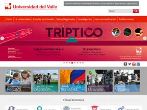 Universidad del Valle's Website Screenshot