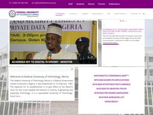 Federal University of Technology, Minna's Website Screenshot