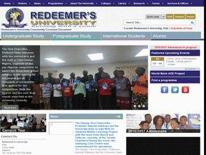 Redeemer's University's Website Screenshot