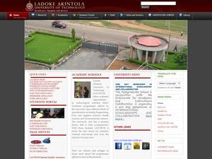 Ladoke Akintola University of Technology's Website Screenshot