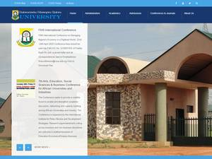 Chukwuemeka Odumegwu Ojukwu University's Website Screenshot