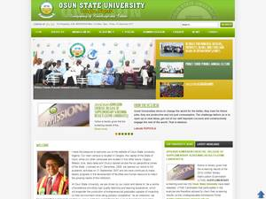 Osun State University's Website Screenshot