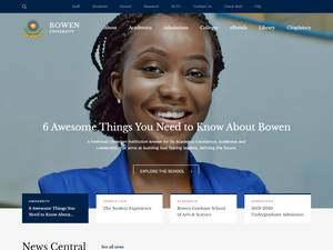 Bowen University's Website Screenshot