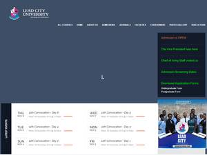 Lead City University's Website Screenshot