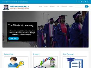 Tansian University's Website Screenshot