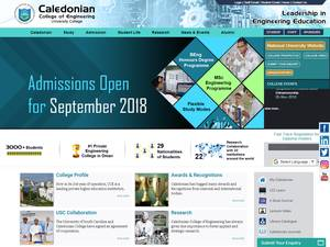 Caledonian College of Engineering's Website Screenshot