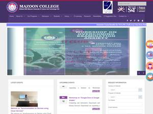 Mazoon College's Website Screenshot