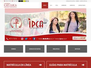 Universidad Católica de Costa Rica's Website Screenshot