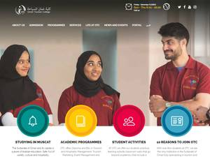 Oman Tourism College's Website Screenshot