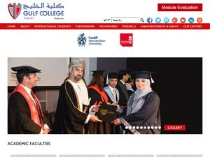 Gulf College's Website Screenshot