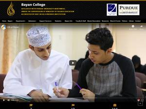 Bayan College's Website Screenshot