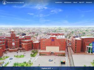 University of Central Punjab's Website Screenshot