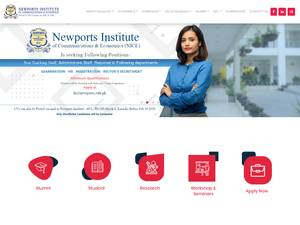 Newports Institute of Communications and Economics's Website Screenshot
