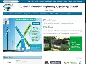 Dawood University of Engineering and Technology Screenshot