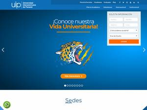 Universidad Interamericana de Panamá's Website Screenshot