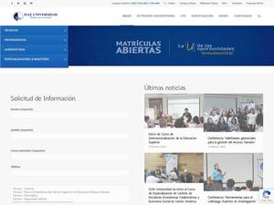 ISAE Universidad Screenshot