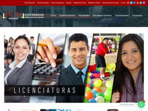 Universidad Cristiana de Panamá's Website Screenshot