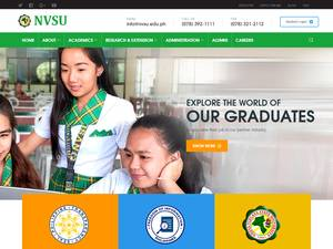 Nueva Vizcaya State University's Website Screenshot