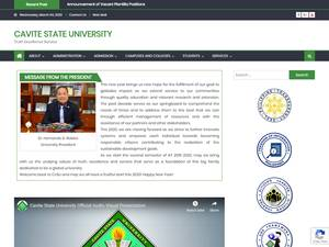 Cavite State University's Website Screenshot