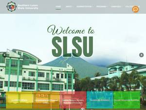 Southern Luzon State University's Website Screenshot