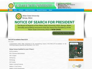 Aklan State University's Website Screenshot